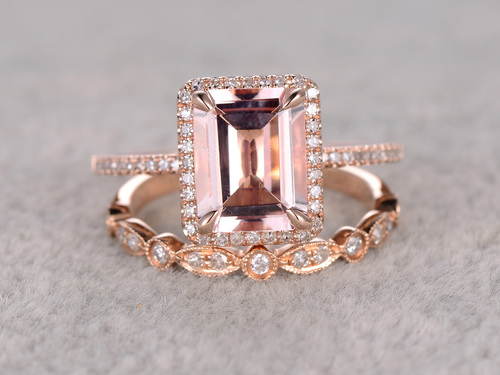 morganite-wedding ring