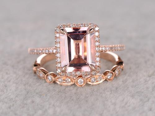 morganite-wedding ring
